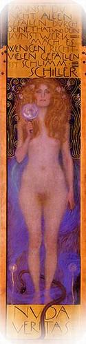 Gustav Klimt. Cartel. Nuda Veritas, 1899.