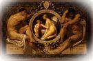 Gustav Klimt. Idilio, 1884.