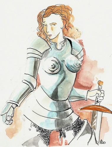 Giovanna D'Arco - Illustrazione di Niccolò Pizzorno