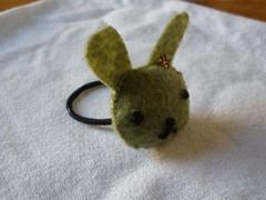 Bunny Head hair tie