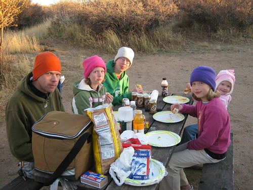 Hot dogs and root beer, good camping food