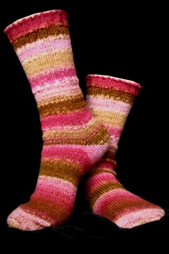 Raspberry Mocha Socks