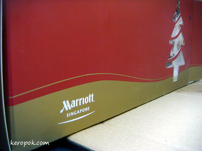 Marriott Hotel Singapore Log Cake box