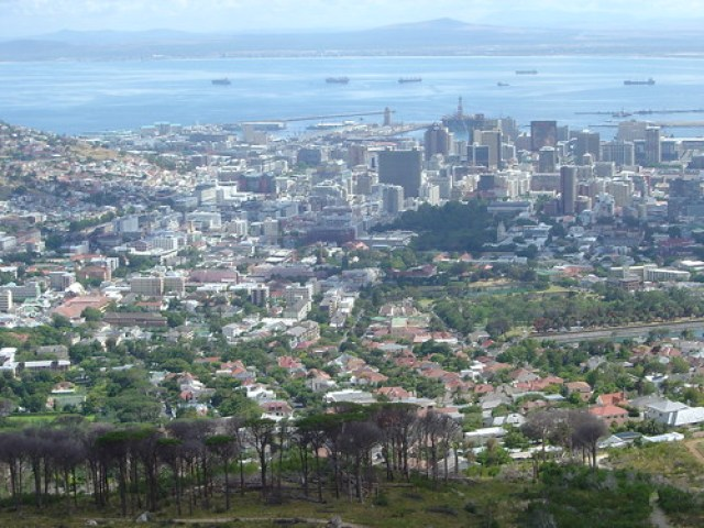 View of Cape Town Centre from Table Mountain