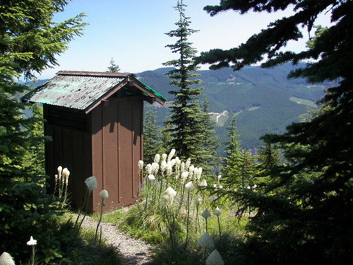 have you ever seen a view like this from an outhouse!