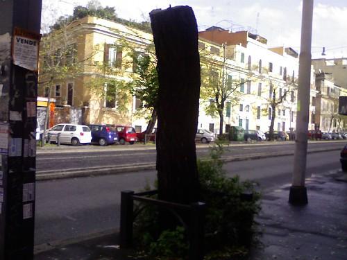Via di Porta Maggiore accanto allex benzinaio