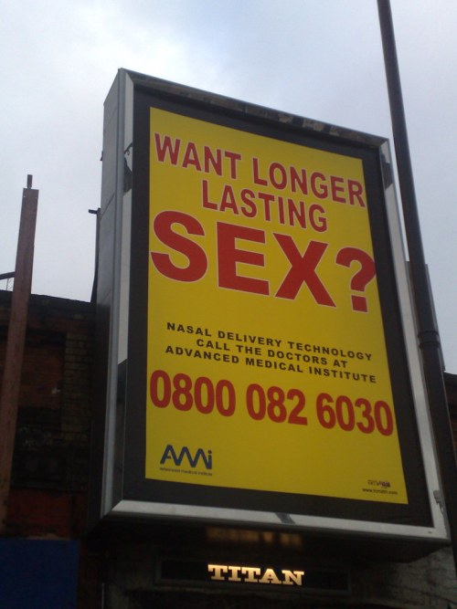 Want longer lasting sex? Shoreditch High Street