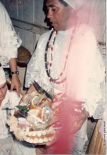 Pai Ribamar entregando o decá, 7 anos