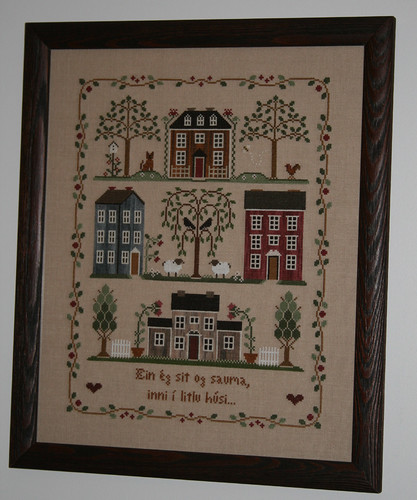 Little House Neighborhood Framed