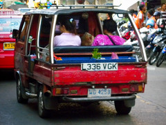 GB Plate on a Bangkok Songtheaw