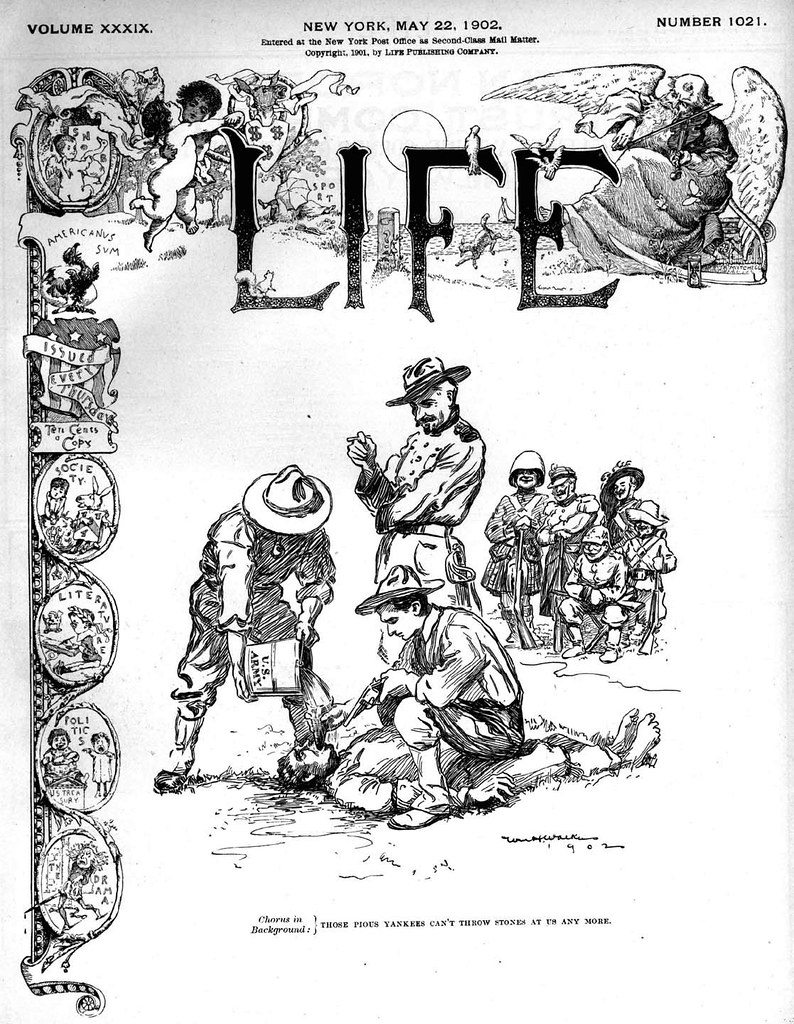 Waterboarding a Filipino (Life Magazine 22 May 1902)