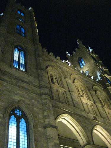 Notre-Dame Basilica at night, Old Montreal, Quebec