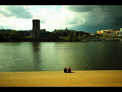 View along the river in Saint Paul, Minnesota