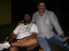Mahesh (left) and Abdul in their sleeping chair.
