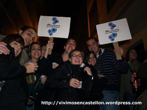 Mariagustina no rode aixina! manifestación en las Tascas 20·XI·08 foto008