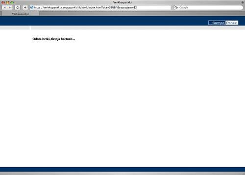 Sampo Online Bank on Safari 3.1