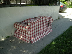 Country tablecloth couch