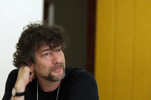 Gaiman na Flip deste ano, em Parati. Foto de Gustavo Scatena/Imagem Paulista
