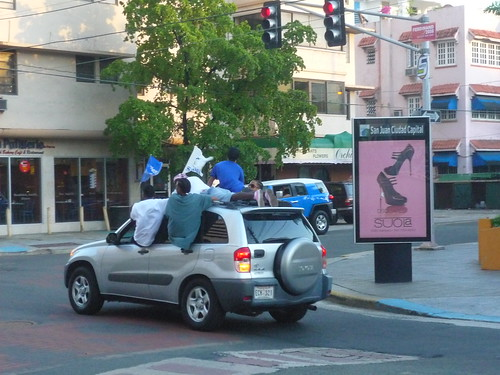 Another way of travelling by car - on the roof