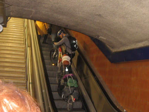 Bike on Escalator, Madrid Metro