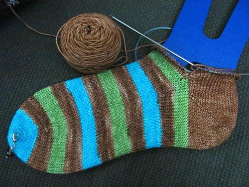 copper socks - now with heel