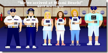 """We've arrived at Miami Beach!"" ©2008 New Codgers"