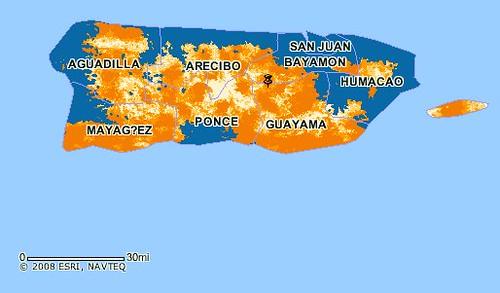 Covertura 3G de AT&T en Puerto Rico.