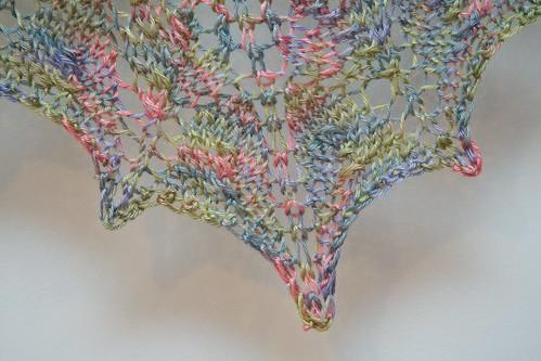 Flower Basket Shawl - Close Up