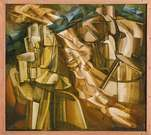 Marcel Duchamp. The King and Queen Surrounded. 1912.