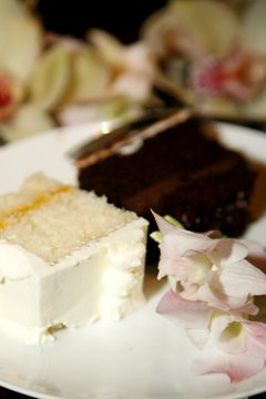 cake, plated, small