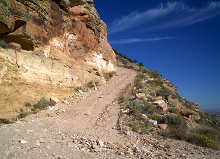 A switchback near the top of the mountain.