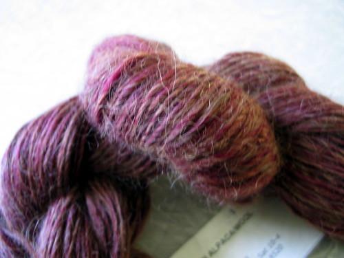 Hand spun alpaca/wool