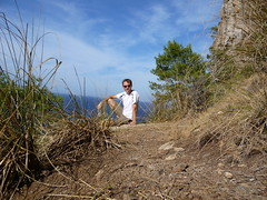Chas on the trail in Port de Sóller