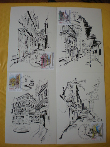 Macau Postcards & Stamps