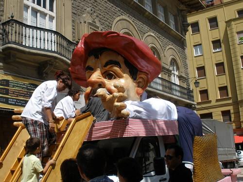 Gargantúa, en las fiestas de Vitoria (Agosto de 2008)