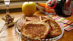 Apple Banana Pancakes with Maple Syrup