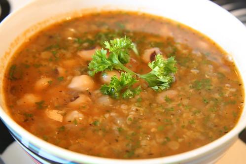 Turkish Mixed Legume and Bulgur Soup