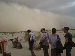 Sandstorm approaches.