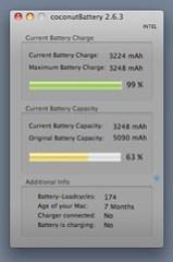 MacBook Air Battery After Calibration