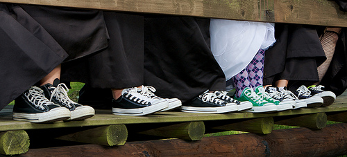And bride wore green Converse… and argyle socks!