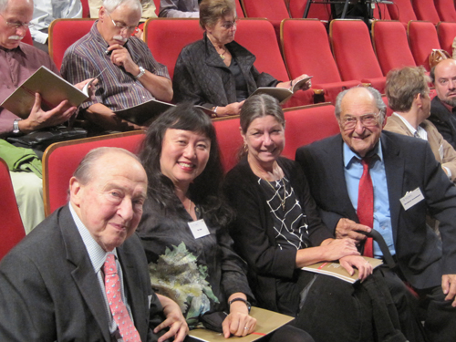 with Menahem Pressler, Bernhard Greenhouse, and Greenhouses assistant, Diane
