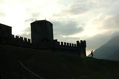Figure below the castle