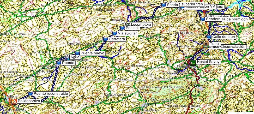 Mapa de la Via Verde del Xixarra