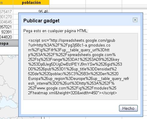 Googledocs Gadget