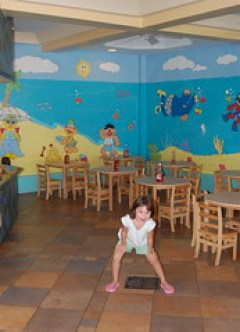 kid's section of the Bayside restaurant
