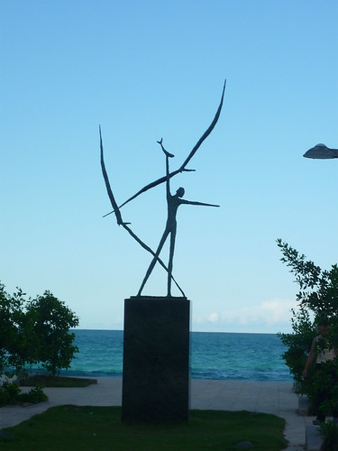 Statue in the park by the sea