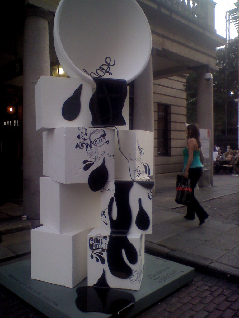 Installation at Covent Garden...Seven Deadly Sins
