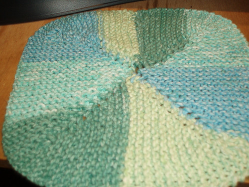Four Corners of Tea Leaves Knitted Dishcloth<a href=