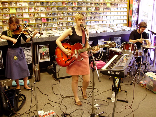 Forest City Lovers live! in-store performance at Music Trader on July 9 2008