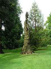 """Mans hand in nature"", Carved Sequoia, Bath UK"